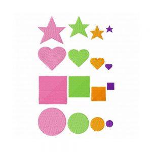 Mini Shape Fills - Stars, Circles, Squares and Hearts-0