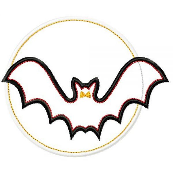 All Hallows' Bat With Moon-386