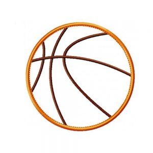 Basketball applique design by Big Dreams Embroidery