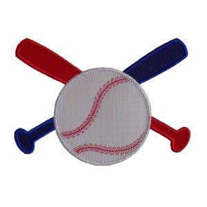Baseball Bats and Ball Range by Big Dreams Embroidery