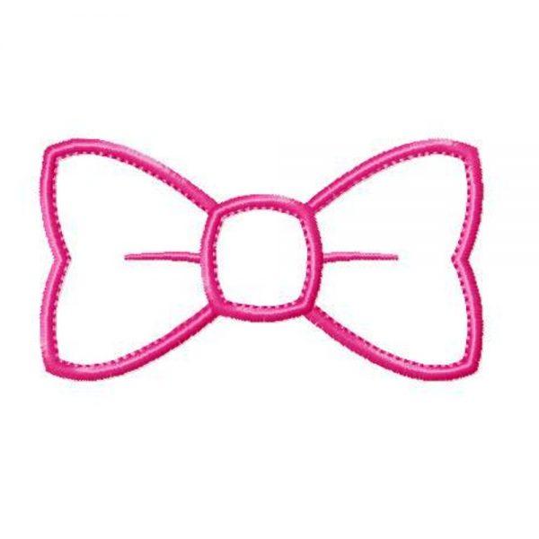 Bow Tie applique design by Big Dreams Embroidery