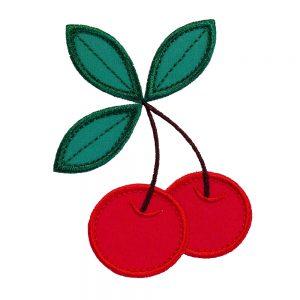 Cherries applique design by Big Dreams Embroidery
