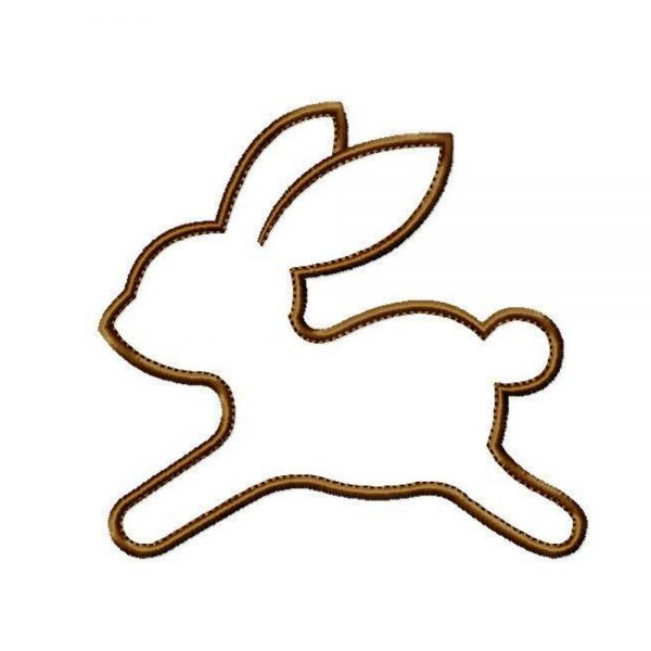 Chocolate Bunny Rabbit by Big Dreams Embroidery