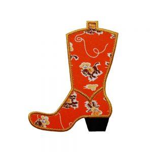 Cowboy Boot applique design by Big Dreams Embroidery