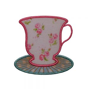 Cup and Saucer applique design by Big Dreams Embroidery