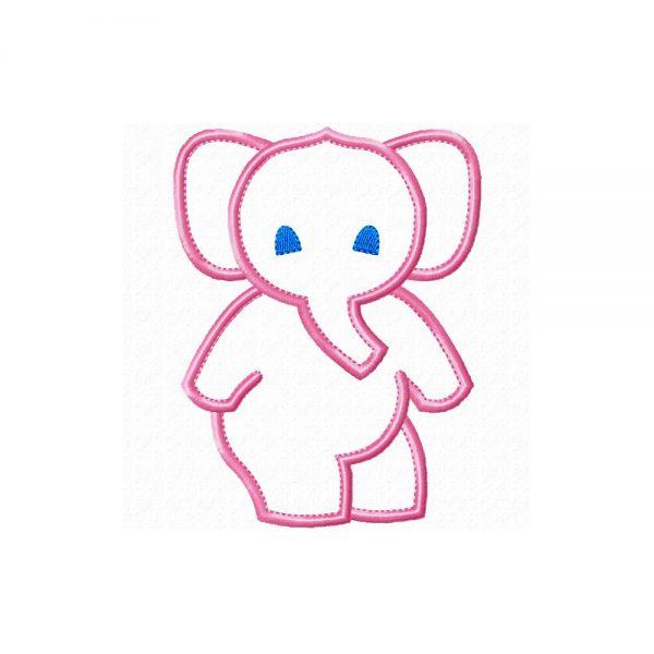 Dancing Elephant applique design by Big Dreams Embroidery