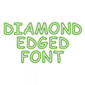 Diamond-edged Font
