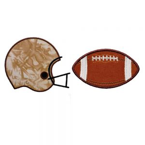 Football and Helmet set by Big Dreams Embroidery