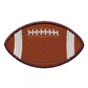 Football applique design by Big Dreams Embroidery