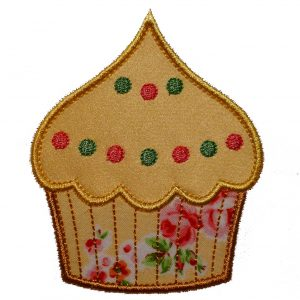 Frosted Cupcake applique design