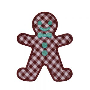 Gingerbread Man applique design by Big Dreams Embroidery