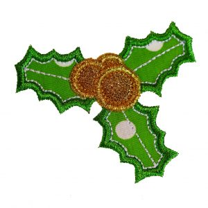 Christmas Holly applique design by Big Dreams Embroidery