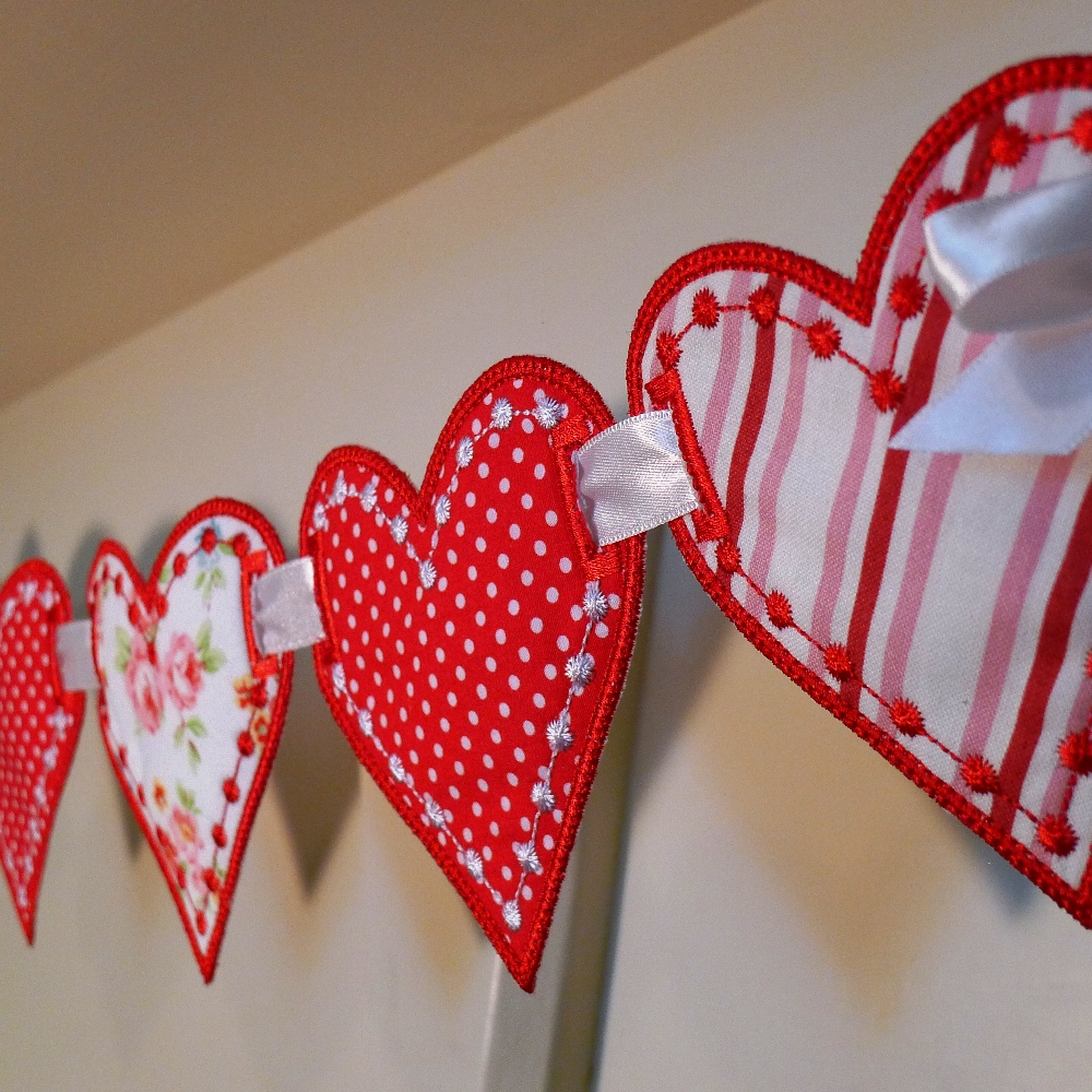 Love Heart Banner ITH Project - Big Dreams Embroidery