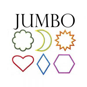 Jumbo Applique Shapes by Big Dreams Embroidery