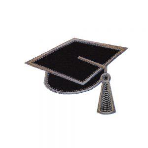 Mortarboard Graduate Cap applique design by Big Dreams Embroidery