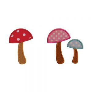 Mushroom applique set by Big Dreams Embroidery