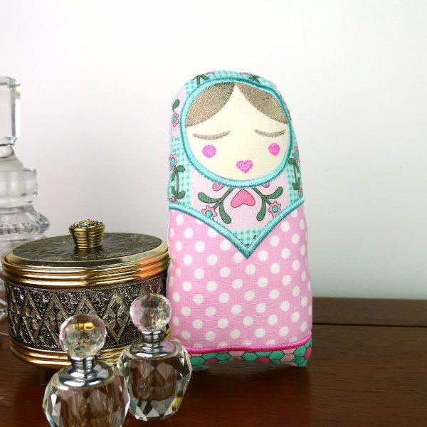 Natasha Babushka Doy Toy in the hoop project by Big Dreams Embroidery