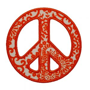 Peace Sign applique design by Big Dreams Embroidery
