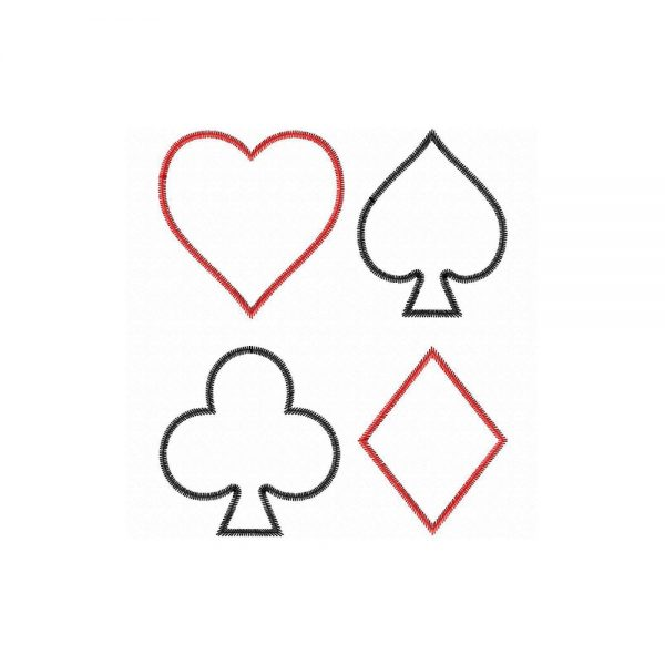 Playing Card Symbols applique designs by Big Dreams Embroidery
