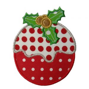Christmas Plum Pudding applique design by Big Dreams Embroidery