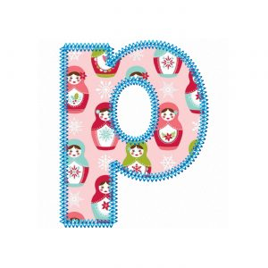 Pretty Applique Font by Big Dreams Embroidery