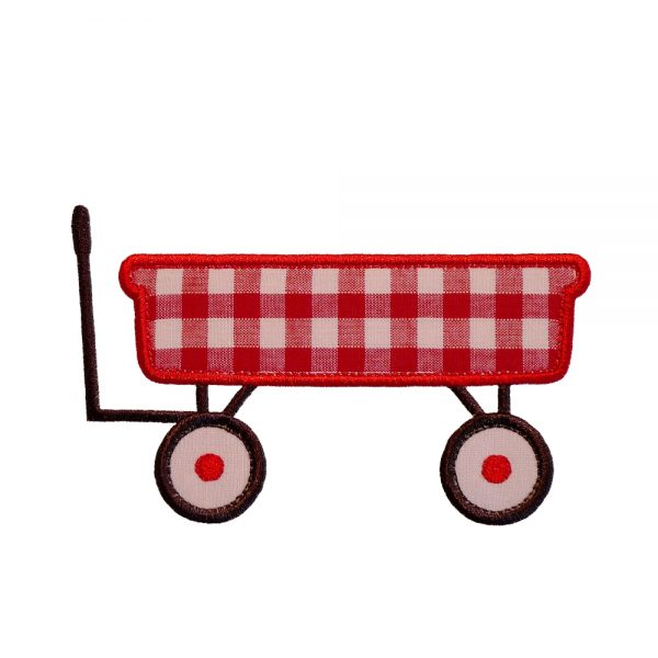 Red Wagon by Big Dreams Embroidery