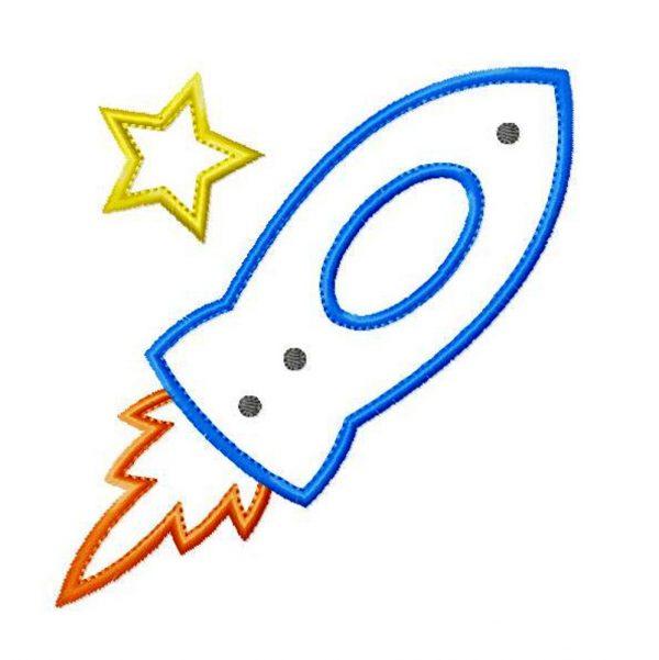 Rocket Ship by Big Dreams Embroidery