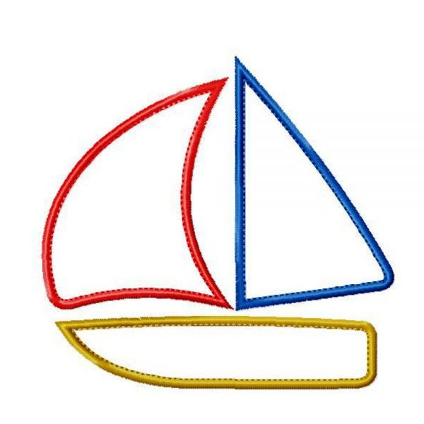Simple Sail Boat by Big Dreams Embroidery