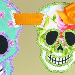 Sugar Skull Banner ITH Project by Big Dreams Embroidery