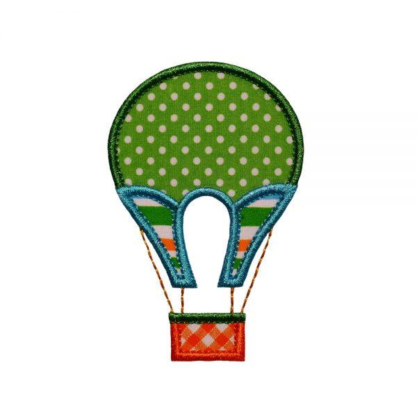 Vintage Hot Air Balloon applique design