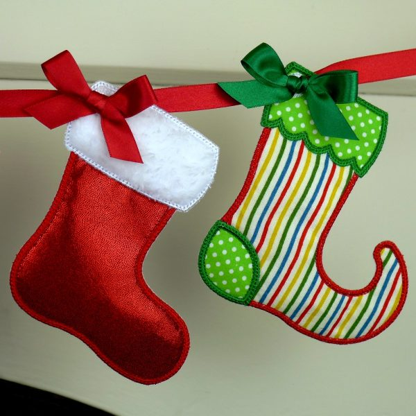Christmas Stocking Banner ITH Project