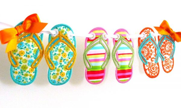 Flip Flop Banner ITH Project by Big Dreams Embroidery