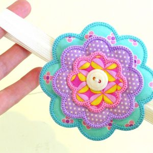 Flower Power Headband ITH Project by Big Dreams Embroidery