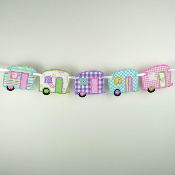 Vintage Camper Banner ITH Project by Big Dreams Embroidery