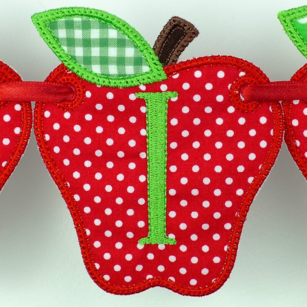Apple Banner ITH Project by Big Dreams Embroidery