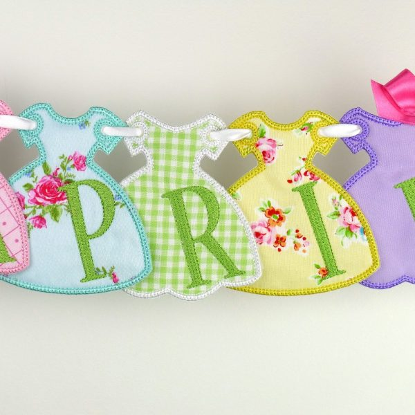 Party Dress Banner ITH Project by Big Dreams Embroidery