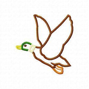 Flying Duck applique design by Big Dreams Embroidery