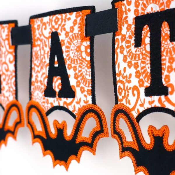 Halloween Bat Banner ITH Project by Big Dreams Embroidery