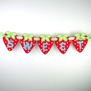 Strawberry Banner ITH Project by Big Dreams Embroidery