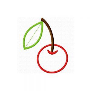 Cherry applique design by Big Dreams Embroidery