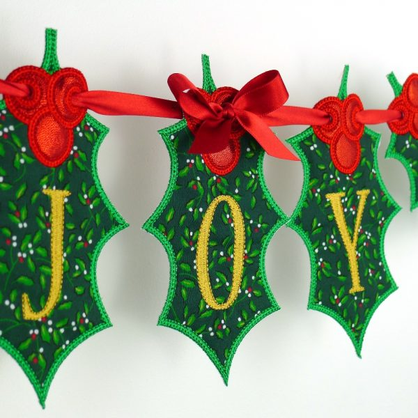 Holly Leaf Banner ITH Project by Big Dreams Embroidery