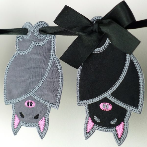 Sleepy Bat Bunting ITH Project by Big Dreams Embroidery