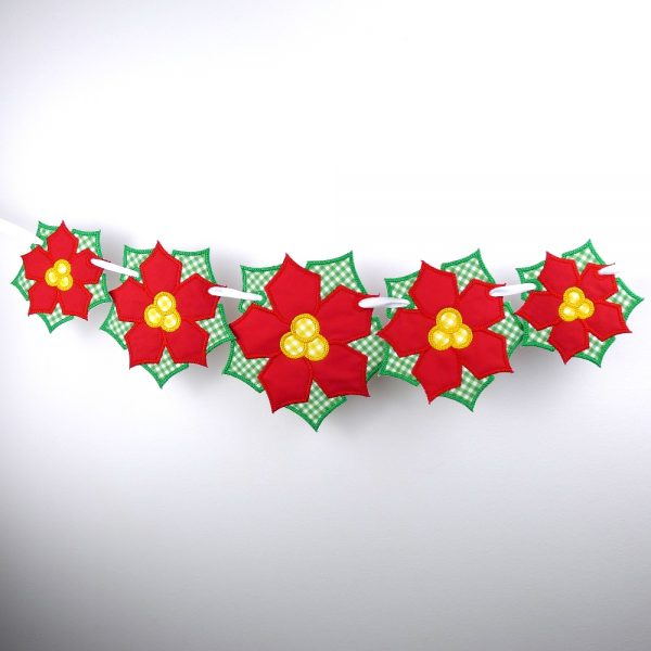 Poinsettia Flower Banner ITH Project by Big Dreams Embroidery