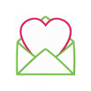 Heart in Envelope applique design by Big Dreams Embroidery