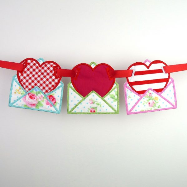Love Letter Banner ITH Project by Big Dreams Embroidery