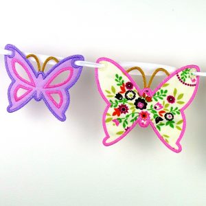 Butterfly Bunting ITH Project by Big Dreams Embroidery