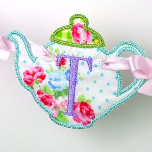 Teapot Banner ITH Project by Big Dreams Embroidery