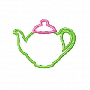 Teapot applique design by Big Dreams Embroidery