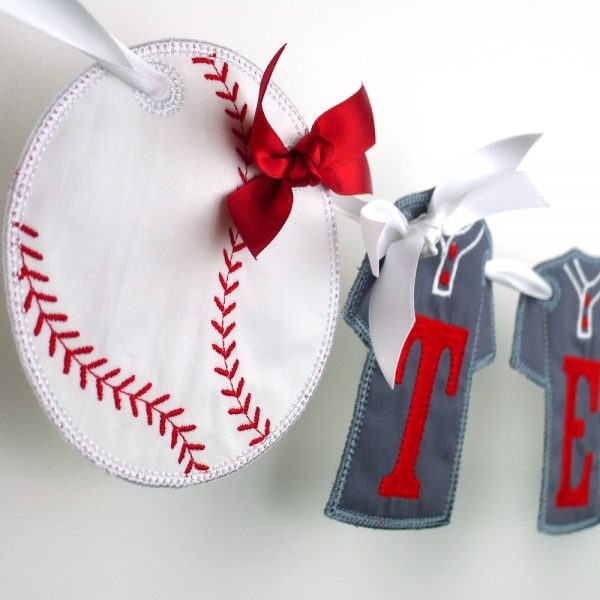 Baseball Banner in the hoop project by Big Dreams Embroidery