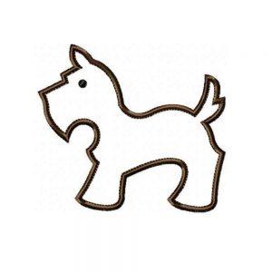 Scottie Dog applique design pattern by Big Dreams Embroidery
